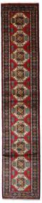 Turkaman Rug 73X373 Authentic  Oriental Handknotted Hallway Runner  Dark Red/Black (Wool, Persia/Iran)