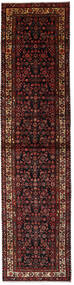 Hosseinabad Rug 100X405 Authentic  Oriental Handknotted Hallway Runner  Dark Red/Dark Brown (Wool, Persia/Iran)