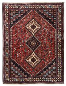 Yalameh Rug 153X198 Authentic  Oriental Handknotted Dark Red/Dark Grey (Wool, Persia/Iran)