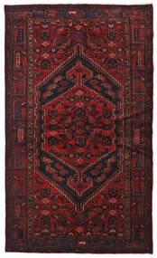 Hamadan Rug 134X226 Authentic  Oriental Handknotted Dark Red (Wool, Persia/Iran)