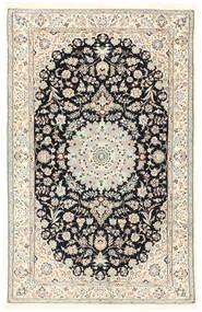 Nain 6La Rug 115X180 Authentic  Oriental Handknotted Light Grey/White/Creme/Dark Grey (Wool/Silk, Persia/Iran)