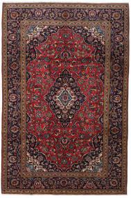 Keshan Rug 200X301 Authentic  Oriental Handknotted Dark Red/Dark Brown (Wool, Persia/Iran)
