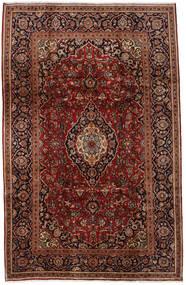 Keshan Rug 197X308 Authentic  Oriental Handknotted Dark Brown/Dark Red (Wool, Persia/Iran)