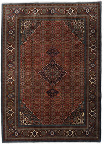 Ardebil Rug 207X288 Authentic Oriental Handknotted Dark Brown/Dark Red (Wool, Persia/Iran)