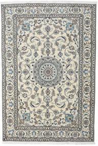 Nain Rug 195X284 Authentic  Oriental Handknotted Light Grey/Dark Grey (Wool, Persia/Iran)
