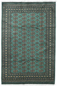 Pakistan Bokhara 2Ply Rug 185X282 Authentic  Oriental Handknotted Dark Green/Turquoise Blue (Wool, Pakistan)