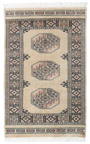 Pakistan Bokhara 3Ply Rug 79X122 Authentic  Oriental Handknotted Light Grey/Dark Grey (Wool, Pakistan)