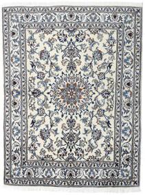 Nain Rug 145X191 Authentic  Oriental Handknotted Light Grey/Dark Grey (Wool, Persia/Iran)