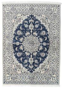 Nain Rug 143X200 Authentic  Oriental Handknotted Light Grey/Dark Blue (Wool, Persia/Iran)