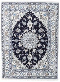 Nain Rug 148X190 Authentic  Oriental Handknotted White/Creme/Light Blue (Wool, Persia/Iran)