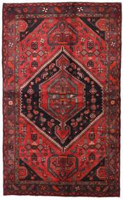 Hamadan Rug 138X225 Authentic  Oriental Handknotted Dark Red/Black (Wool, Persia/Iran)