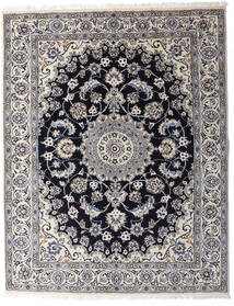 Nain Rug 154X197 Authentic  Oriental Handknotted Light Grey/Dark Grey (Wool, Persia/Iran)