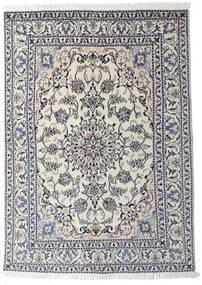 Nain Rug 145X204 Authentic  Oriental Handknotted Light Grey/Dark Grey (Wool, Persia/Iran)