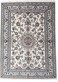Nain Rug 147X206 Authentic  Oriental Handknotted Light Grey/Dark Grey (Wool, Persia/Iran)