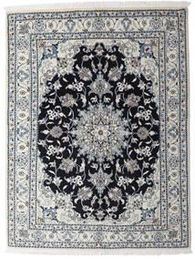 Nain Rug 150X195 Authentic  Oriental Handknotted Light Grey/Dark Grey (Wool, Persia/Iran)