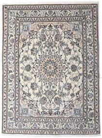 Nain Rug 151X202 Authentic  Oriental Handknotted Light Grey/Dark Brown (Wool, Persia/Iran)