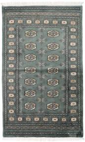 Pakistan Bokhara 3Ply Rug 92X151 Authentic  Oriental Handknotted Dark Grey/Dark Green (Wool, Pakistan)
