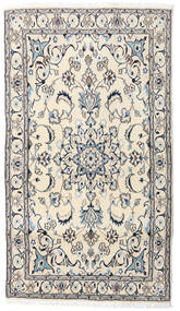 Nain Rug 121X215 Authentic  Oriental Handknotted Beige/Light Grey (Wool, Persia/Iran)