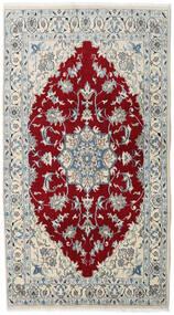 Nain Rug 120X218 Authentic  Oriental Handknotted Dark Red/Dark Beige (Wool, Persia/Iran)