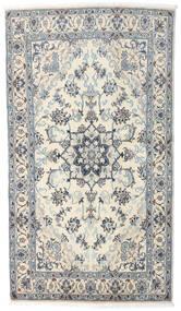 Nain Rug 121X210 Authentic  Oriental Handknotted Beige/Light Grey/Dark Grey (Wool, Persia/Iran)