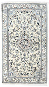 Nain Rug 121X212 Authentic  Oriental Handknotted Beige/Light Grey/Light Blue (Wool, Persia/Iran)
