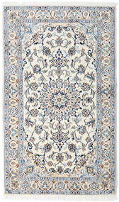 Nain Rug 124X206 Authentic  Oriental Handknotted Beige/Light Grey (Wool, Persia/Iran)