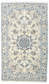 Nain Rug 123X210 Authentic  Oriental Handknotted Light Grey/White/Creme/Beige (Wool, Persia/Iran)