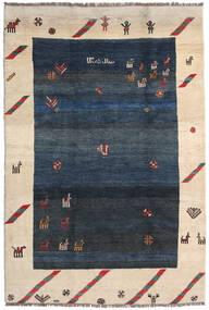 Gabbeh Rustic Rug 218X325 Authentic Modern Handknotted Dark Blue/Beige (Wool, Persia/Iran)