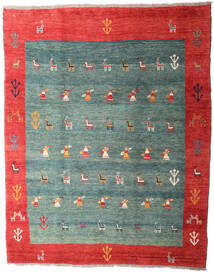 Gabbeh Rustic Rug 259X326 Authentic Modern Handknotted Turquoise Blue/Rust Red Large (Wool, Persia/Iran)