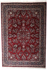 Keshan Indo Rug 246X353 Authentic  Oriental Handknotted Dark Red/Dark Brown (Wool, India)