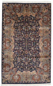 Keshan Indo Rug 193X310 Authentic  Oriental Handknotted Black/Light Brown (Wool, India)