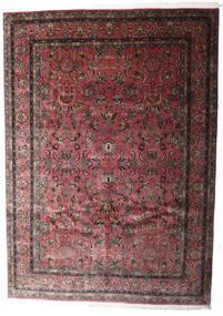 Keshan Indo Rug 248X347 Authentic  Oriental Handknotted Dark Brown/Dark Red (Wool, India)