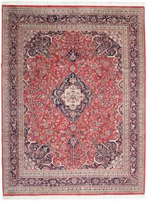Keshan Indo Rug 278X365 Authentic  Oriental Handknotted Beige/Dark Red Large (Wool, India)