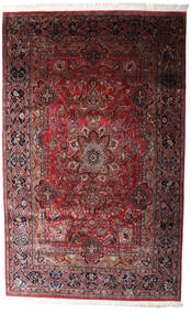 Keshan Indo Rug 198X315 Authentic  Oriental Handknotted Dark Red/Black (Wool, India)