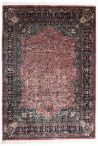 Keshan Indo Rug 245X350 Authentic  Oriental Handknotted Dark Brown/Dark Grey (Wool, India)