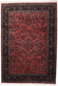 Keshan Indo Rug 241X339 Authentic  Oriental Handknotted Black/Dark Brown (Wool, India)