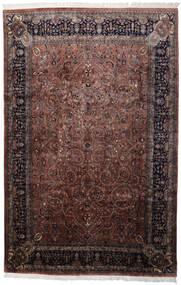 Keshan Indo Rug 241X368 Authentic  Oriental Handknotted Black/Dark Brown (Wool, India)