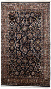 Keshan Indo Rug 186X310 Authentic  Oriental Handknotted Black/Dark Brown (Wool, India)