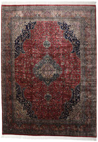 Keshan Indo Rug 251X346 Authentic  Oriental Handknotted Dark Red/Black Large (Wool, India)
