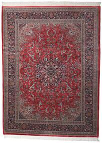 Keshan Indo Rug 250X335 Authentic  Oriental Handknotted Dark Brown/Dark Red Large (Wool, India)