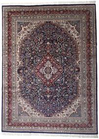 Keshan Indo Rug 252X344 Authentic  Oriental Handknotted Dark Purple/Light Grey Large (Wool, India)