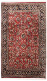 Keshan Indo Rug 190X316 Authentic  Oriental Handknotted Dark Red/Dark Brown (Wool, India)