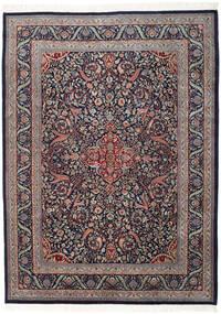 Keshan Indo Rug 255X346 Authentic  Oriental Handknotted Dark Purple/Dark Grey Large (Wool, India)