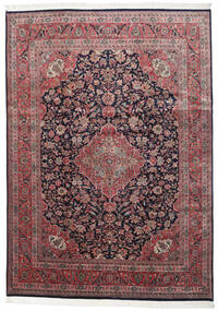 Keshan Indo Rug 250X352 Authentic  Oriental Handknotted Dark Red/Black Large (Wool, India)