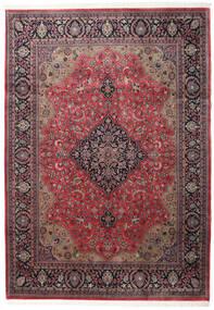 Keshan Indo Rug 246X346 Authentic  Oriental Handknotted Dark Red/Dark Brown (Wool, India)