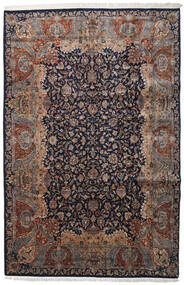 Keshan Indo Rug 237X362 Authentic  Oriental Handknotted Black/Light Grey (Wool, India)
