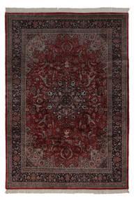 Keshan Indo Rug 241X350 Authentic  Oriental Handknotted Dark Red/Dark Brown (Wool, India)