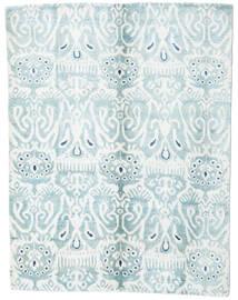 Sari Pure Silk Rug 153X200 Authentic Modern Handknotted White/Creme/Light Blue (Silk, India)