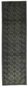 Afghan Rug 80X300 Authentic  Oriental Handknotted Hallway Runner  Dark Grey (Wool, Afghanistan)