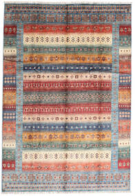 Shabargan Rug 207X305 Authentic  Modern Handknotted Dark Brown/Light Grey (Wool, Afghanistan)